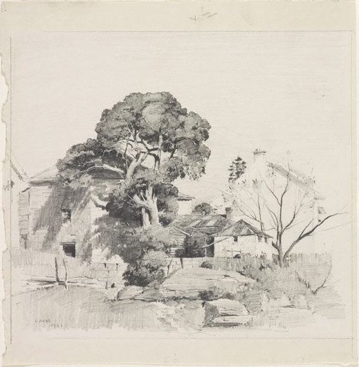 An image of The fig tree, McMahons Point by Lloyd Rees