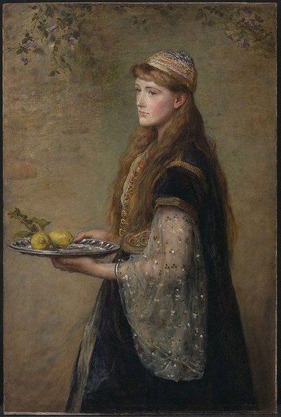 An image of The captive by Sir John Everett Millais