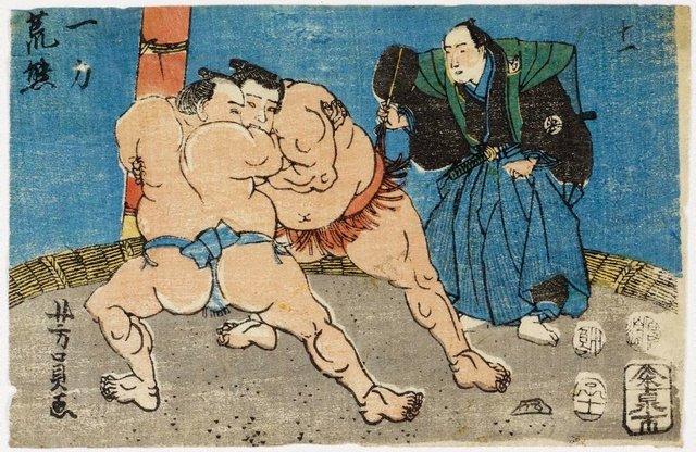 An image of Wrestlers - Ichiriki and Arakuma