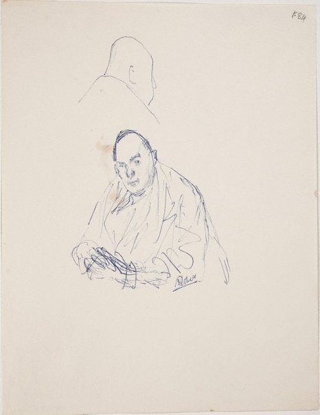 An image of (Portrait studies of a man) (Late Sydney Period) by William Dobell