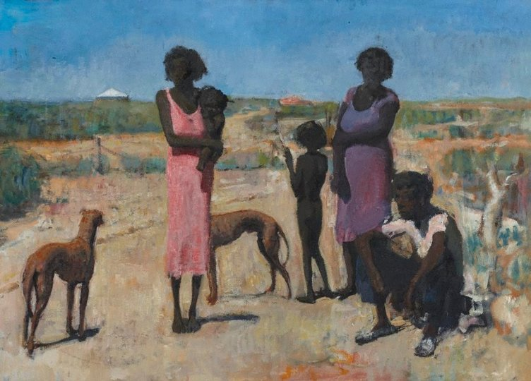 AGNSW collection David Rae Station blacks (1956) 9193