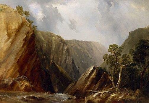 An image of Denn's Falls, Tia River, N.S.W. by Conrad Martens