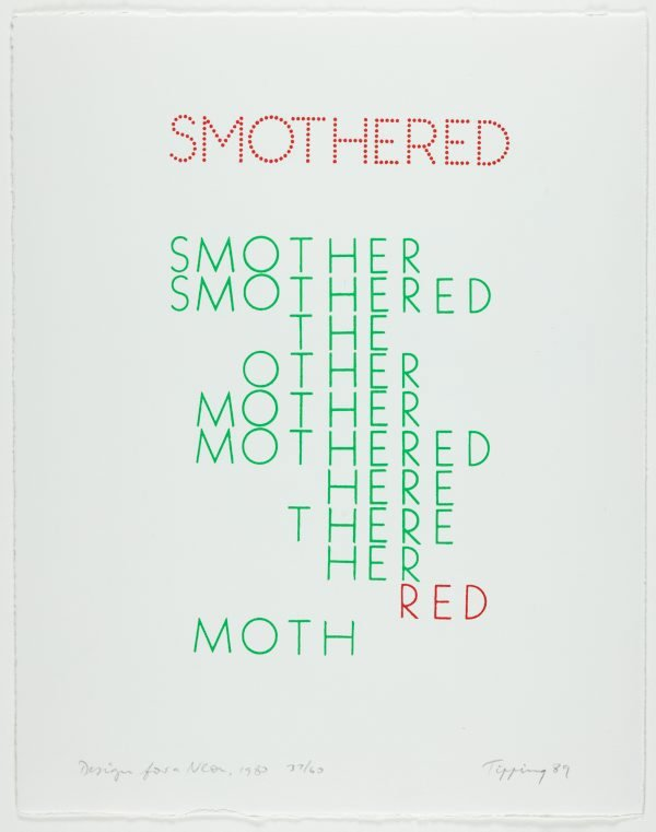 An image of Smothered - design for a neon, 1980
