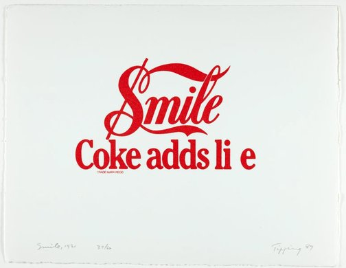 An image of Smile: Coke adds li e, 1981 by Richard Tipping