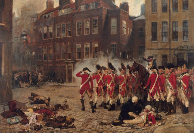 An image of The Gordon riots 1780