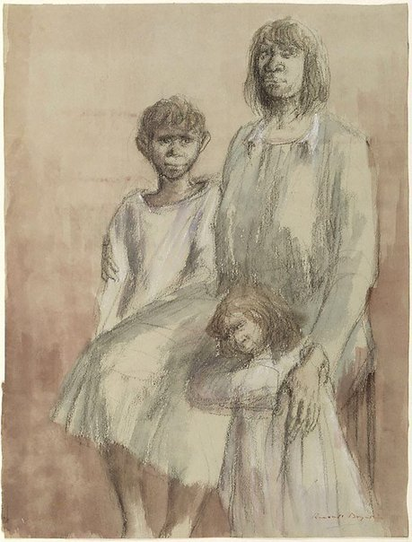 An image of Aboriginal family by Russell Drysdale