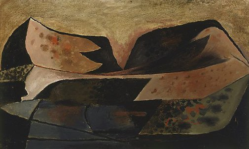 An image of Welsh mountains by Graham Sutherland