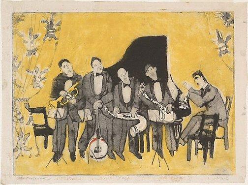 An image of Jazz by Rolf Nesch
