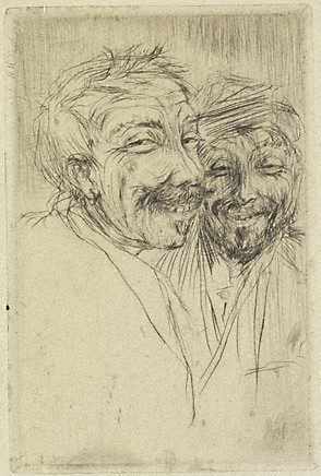 An image of Scoundrels by Emil Nolde