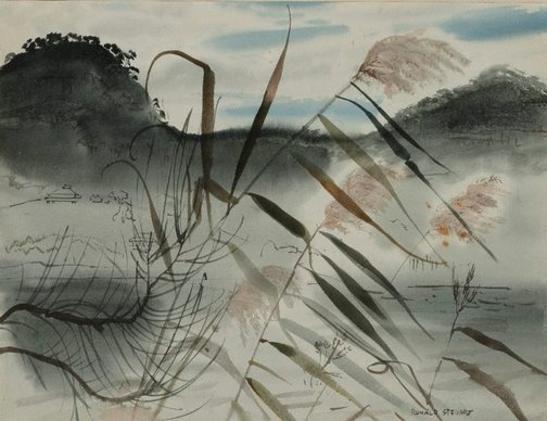 An image of River reeds at Tizzana by Ronald Hewison Steuart