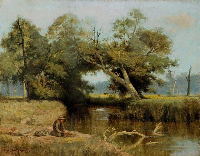 An image of Landscape with swagman