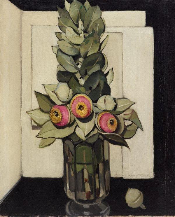 Western Australian gum blossom, (1928) by Margaret Preston