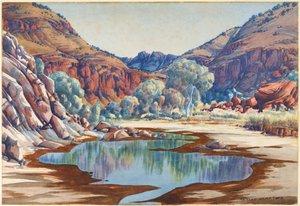 Palm Valley, (1940s) by Albert Namatjira