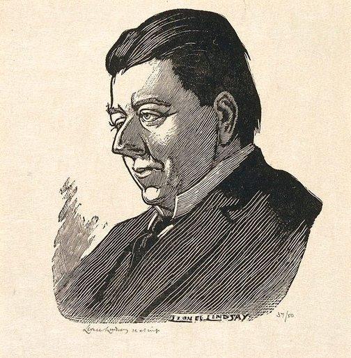 An image of (Portrait of Christopher Brennan) by Lionel Lindsay