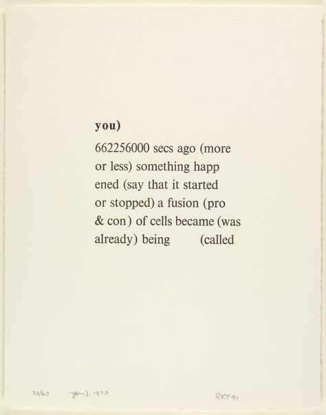 An image of You), 1970 by Richard Tipping