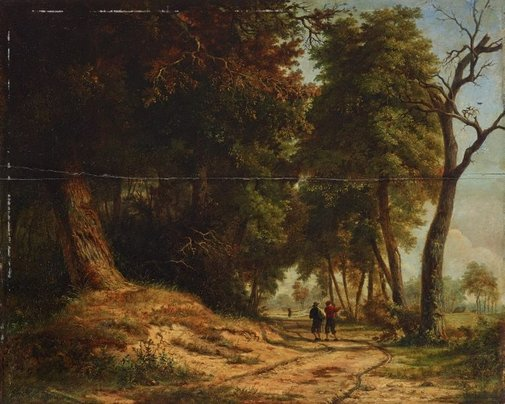 An image of Sunlit glade by attrib. George Vincent