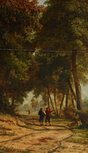 Alternate image of Sunlit glade by attrib. George Vincent