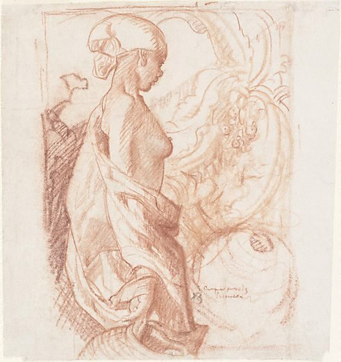 An image of Study for the Empire panels by Sir Frank Brangwyn