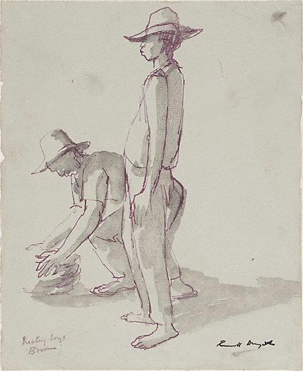 An image of Malay boys, Broome by Russell Drysdale