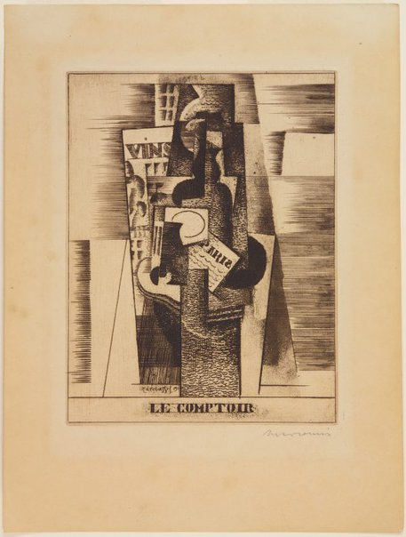 An image of The counter by Louis Marcoussis
