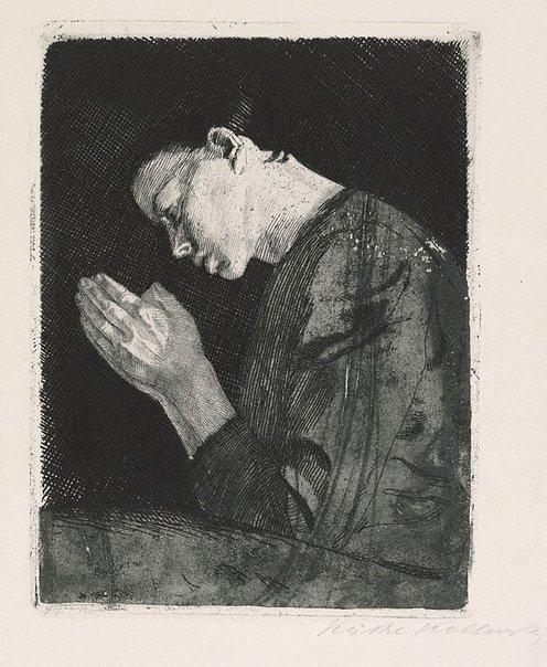 An image of Praying girl by Käthe Kollwitz