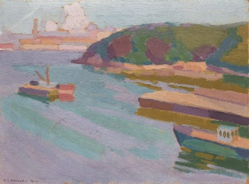 An image of Berry's Bay by Roland Wakelin