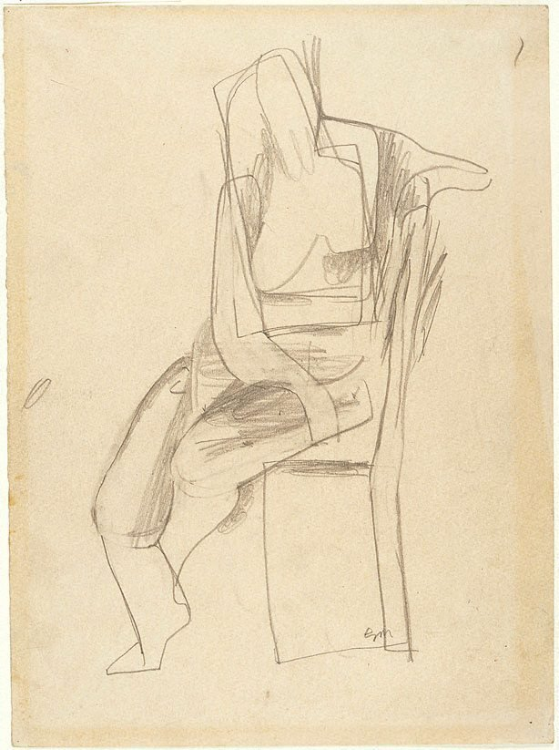 An image of Seated female nude