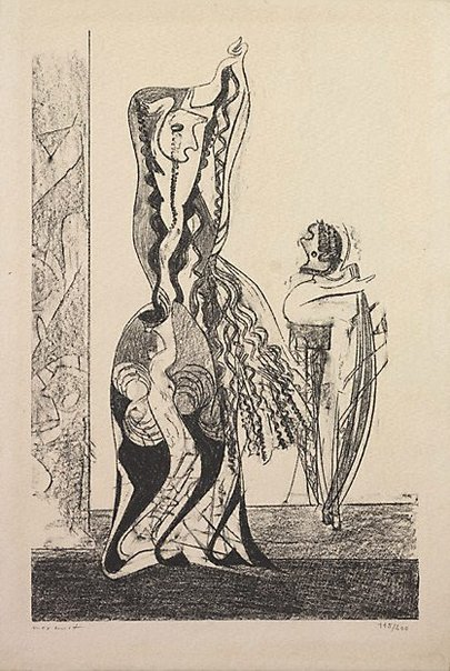 An image of Dancers by Max Ernst