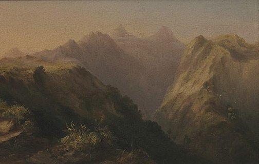 An image of Orofena, Tahiti by Conrad Martens