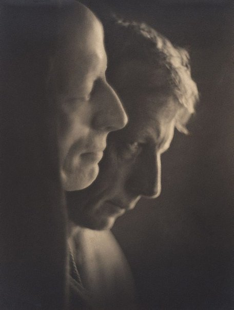 An image of Mask and model (Gayfield Shaw) by Harold Cazneaux