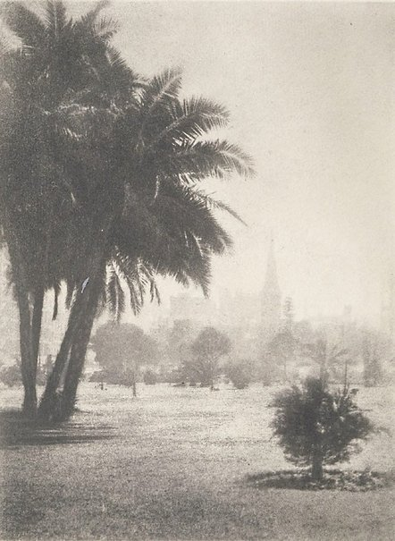 An image of Untitled (Park, Botanic Gardens, Hyde Park looking to St James?) by George James Morris