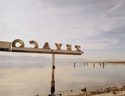 An image of Texaco, Salton Sea, California by Michael Corridore