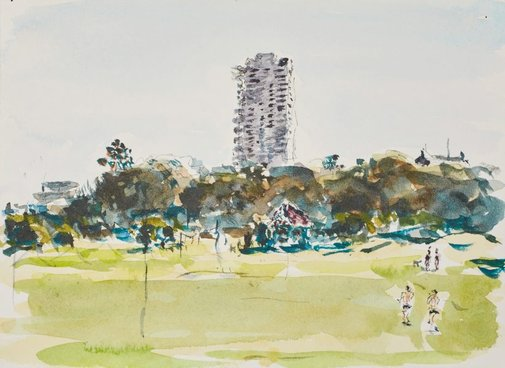 An image of The Horizon Building, from Moore Park by Tom Carment