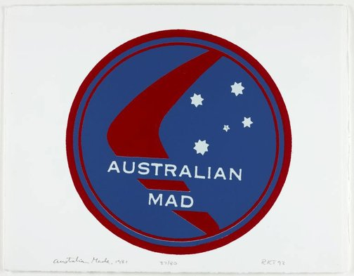 An image of Australian mad, 1981/82 by Richard Tipping