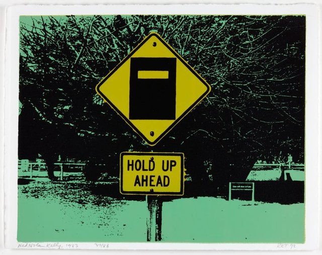 An image of Hold up ahead, 1983