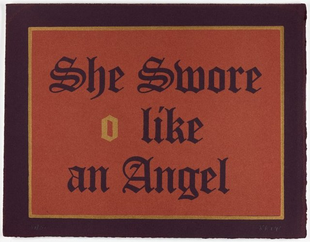 An image of She swore like an angel