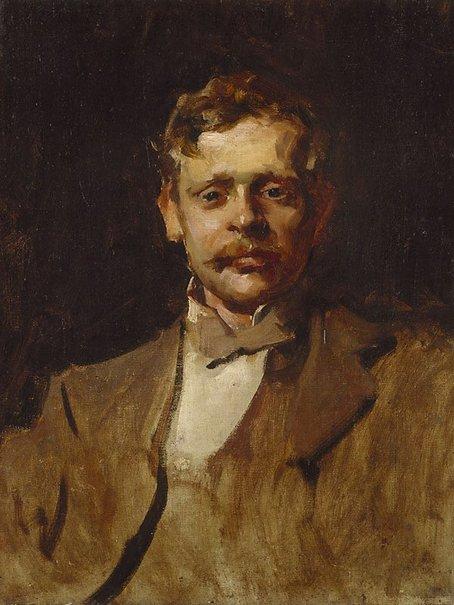 An image of G.W. Lambert, early sketch portrait by John Longstaff