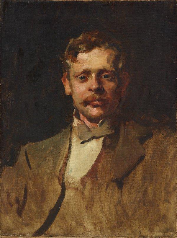 An image of G.W. Lambert, early sketch portrait