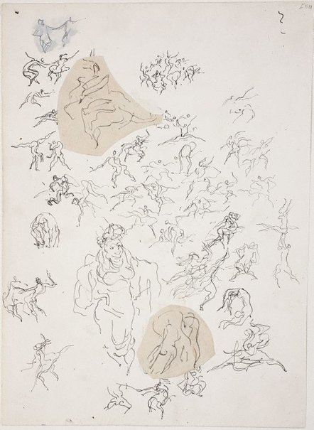 An image of (Studies of figures dancing) (Late Sydney Period) by William Dobell