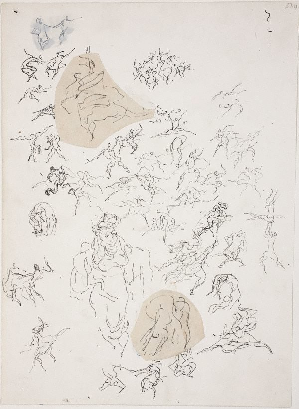 An image of (Studies of figures dancing) (Late Sydney Period)