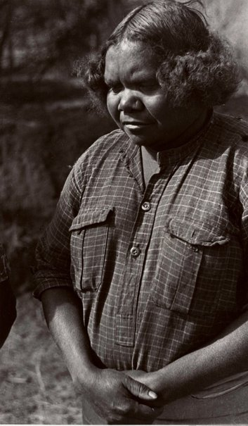 An image of Aboriginal stockwoman, on the Canning Stock Route by Axel Poignant