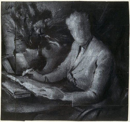 "An image of Study for ""Dame Mary Gilmore"" by Joshua Smith"