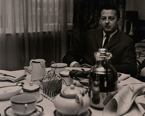 An image of André Previn, conductor/composer, Grosvenor Hotel, London by Lewis Morley