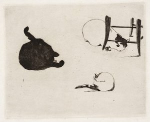 The cats, 1868-1869 by Edouard Manet