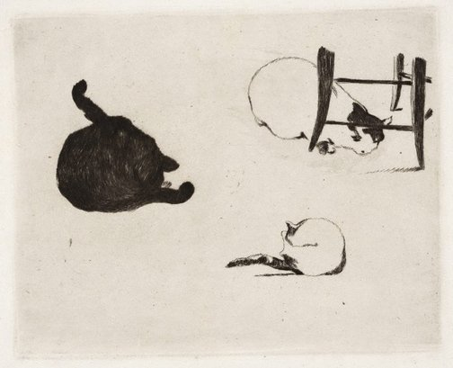 An image of The cats by Edouard Manet