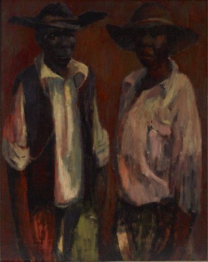 AGNSW collection Russell Drysdale Aboriginal stockmen (circa 1953) 95.2013