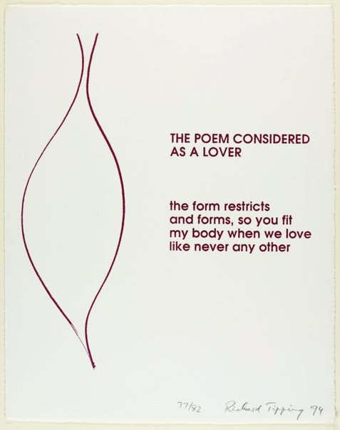 An image of The poem considered as a lover by Richard Tipping