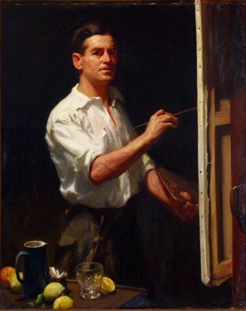 An image of Self portrait by W B McInnes