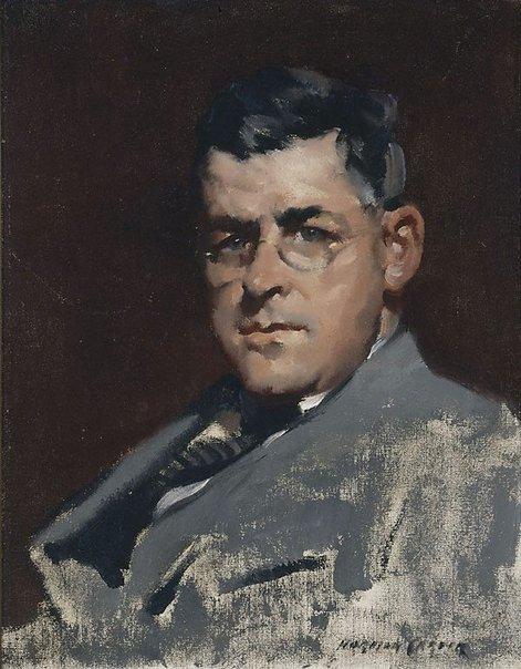 An image of John D. Moore, artist by Norman Carter