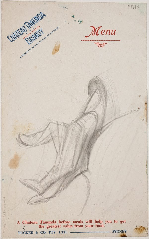 An image of (Study for Thelma Clune's hand) (Late Sydney Period)